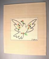 Pablo Picasso, limitierter Künstler Teppich 'Colombe bleue avec Fleurs' von Desso