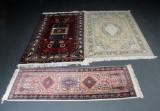 Tre orientalske tæpper, Kashan Kashmir mfl. (3)