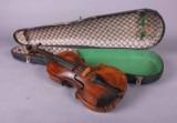 Violin i transportkasse