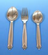 Evald Nielsen - no 37 - 4 middagsgafler, 4 middagsskeer og 4 dessertskeer. (12)