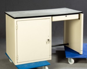 Burotisch Schreibtisch Tisch Holz Metall Lauritz Com
