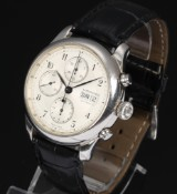 Longines 'Weems Chronograph No. 2' limited men's watch, steel, c. 1995