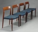 N. O. Møller. Spisestole, palisander, model 77 (4)