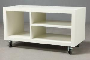 Vare: 3187831 TV-bord på hjul. Hvid lak.