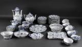 Royal Copenhagen. Porcelain coffee service pieces, Blue Fluted pattern, Full Lace (52)