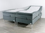 'Kinnabädden' adjustable bed, model Diamond, grey, 180 x 200 cm, medium