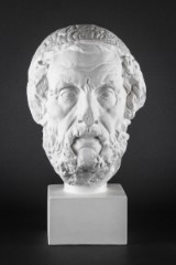 Gipsbuste af Homer