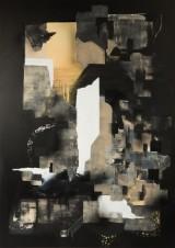 Semor, 'Abstraktes Schwarz', 2016, a painting