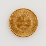 Mynt guld Frankrike
