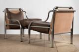 Gae Aulenti, a pair of lounge chairs, model 'Stinga' for Poltronova (2)