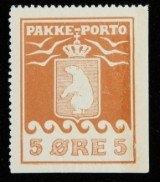 Greenland, P.P. 5 øre mint NH, fine example. Facit: P2IID. Certificate from Møller and Lasse Nielsen.