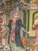 Persian rug, Tabriz, wool and soil on silk warp, 156 x 213 cm