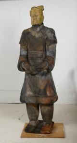 Kinesisk terracotta figur