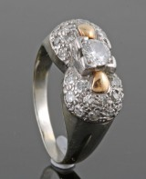 Diamond ring in 18kt approx. 0.50ct