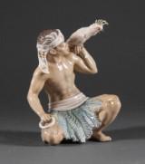 Dahl Jensen, figur, porcelæn, dessin 1305