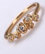 Millé Copenhagen. Diamond ring, 18 kt. satin-finish gold, total approx. 0.19 ct