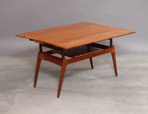 Dansk møbelproducent. Københavnerbord. Sofa/spisebord af teak ...