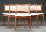Seks spisestole af teak, 1960'erne (6)