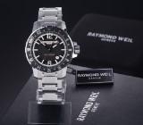 Raymond Weil 'Nabucco GMT'. Men's watch, steel with black dial - box + certificate 2017