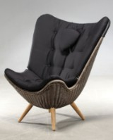 Knud Vinther - Corollo.dk 3 easy chair with black satin cushion