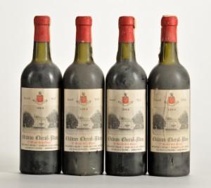 4 fl. Chateau Cheval Blanc 1964 Saint-Émilion 1. Grand Cru Classé