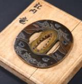Higo Nishigaki tsuba (3. mester), tidlig Edo Periode, Japan 1600-1700-tallet