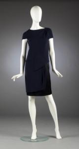 Chanel, kjole af uld og silke, str. 38