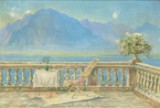 Marcel Cogniet, terrace of the Hotel Excelsior in Montreux