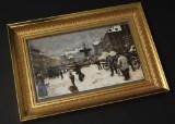 Bing & Grøndahl efter Paul Fischer, Vinterdag på Gammeltorv 1919