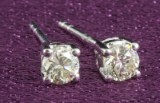 Earrings with brilliant cut diamonds approx. 0.64ct