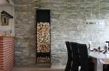 Brændestativ. Væghængt samt gulvstående model