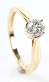 Solitaire ring, 14 kt. gold, 0.51 ct.