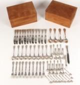 Evald Nielsen hammered silver flatware, No. 4 (64)