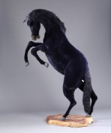 Hansa Toys. Large bucking black horse