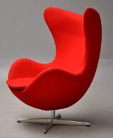 Arne Jacobsen. Lounge chair, model 3316, The Egg, Divina wool