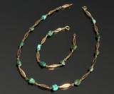 Hermann Siersbøl, armbånd og halskæde, 14 kt guld (2)