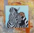 Asger Schioldan. 'Zebra', 60 x 60 cm