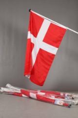 Dannebrogsflag til væg - 200 cm. 16 stk.