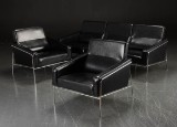 Arne Jacobsen. Three-seater sofa and a pair of lounge chairs (3)