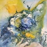 Bozena Ossowski, olie på lærred, ' Blue Polinesien'
