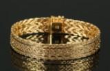 Armbånd af 14 kt guld, 35,9 gr