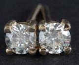 Diamond earrings in 18kt approx. 0.40ct