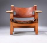 Børge Mogensen. 'Den spanske stol', model 2226, eg