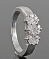 18kt.diamond ring approx. 0.50ct