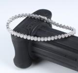 Diamond tennis bracelet in 18 kt. white gold, total 1.70 ct. H/VS-SI
