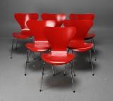 Arne Jacobsen, stolar 3107 'Sjuan'