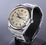 Rolex Air-King Precision. Vintage men's watch, steel, with silver-coloured dial, c. 1953-54