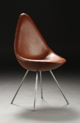 Arne Jacobsen, The Drop, vegetable tanned leather
