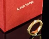 Wempe, ring med brillant og safirer, 750 guld