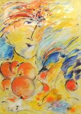 Ingegerd Lagerlöf Spanner, 'Orange/0range', akryl på lærred